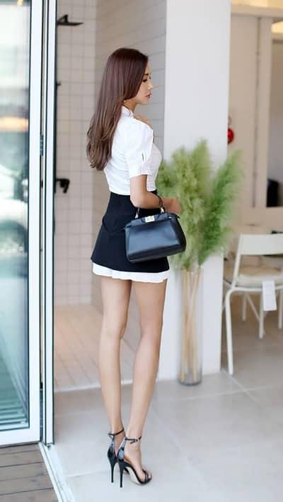 Sơ mi váy ngắn dành cho những cô gái văn phòng