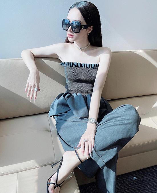 Hương Giang chọn váy áo tôn vai gầy - Ảnh 8.