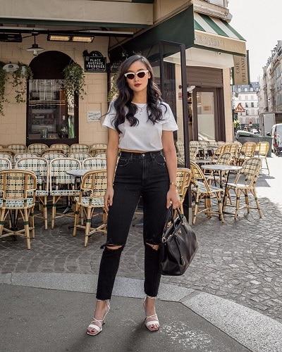 Quần skinny jeans màu đen tạo hiệu ứng chân thon, dài - Ảnh 2