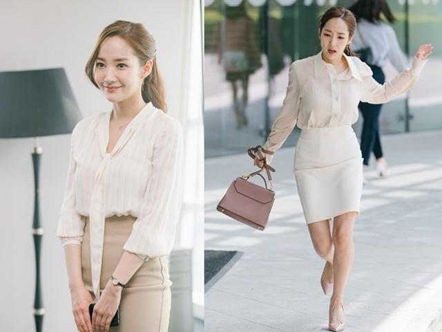 Nhan sắc lên xuống thất thường nhưng gout thời trang công sở 30 của Park Min Young đẹp miễn chê - Ảnh 2.