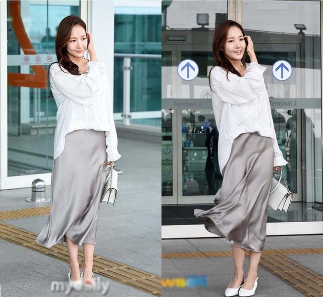 Nhan sắc lên xuống thất thường nhưng gout thời trang công sở 30 của Park Min Young đẹp miễn chê - Ảnh 8.