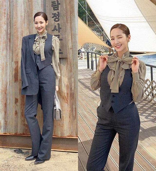 Nhan sắc lên xuống thất thường nhưng gout thời trang công sở 30 của Park Min Young đẹp miễn chê - Ảnh 7.