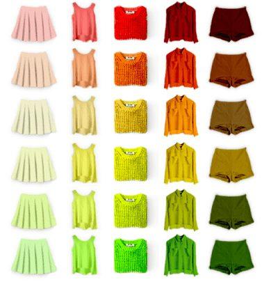 Một số màu sắc phù hợp với sắc tố da nóng