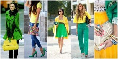 Phối màu sắc trang phục cùng gam màu xanh và vàng tạo nên sự tươi mới, mát mẻ