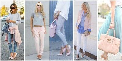 Phối màu sắc trang phục cùng gam màu xanh biển và hồng tạo nên sự tươi mới, mát mẻ