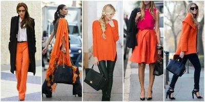 Phối màu sắc trang phục cùng màu đen và cam