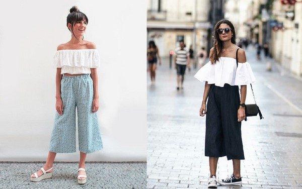 Quần culottes và áo croptop