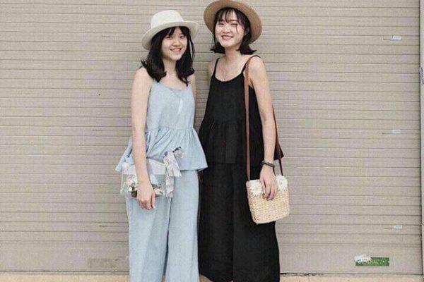 Quần culottes và áo hai dây