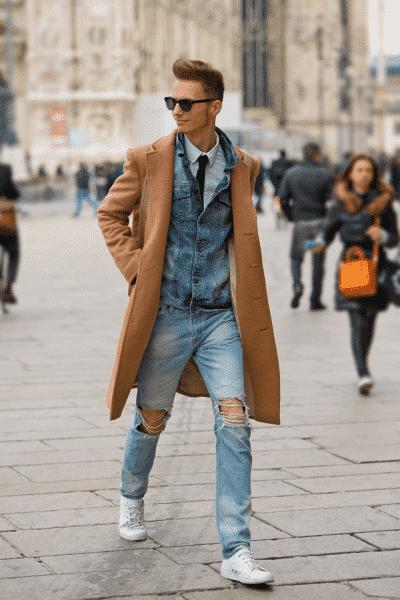 Mới lạ, trẻ trung hơn khi học cách mix áo khoác dáng dài với quần jeans