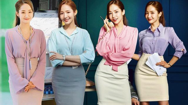 Nhan sắc lên xuống thất thường nhưng gout thời trang công sở 30 của Park Min Young đẹp miễn chê - Ảnh 1.