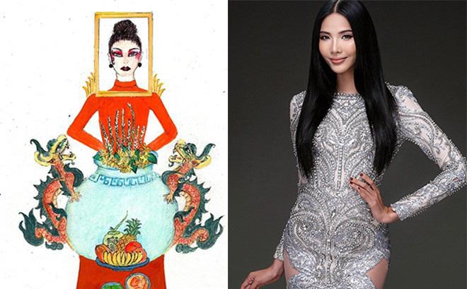 trang phục bàn thờ, Á hậu Hoàng Thùy, Miss Universe 2019, ntk phạm quang minh,