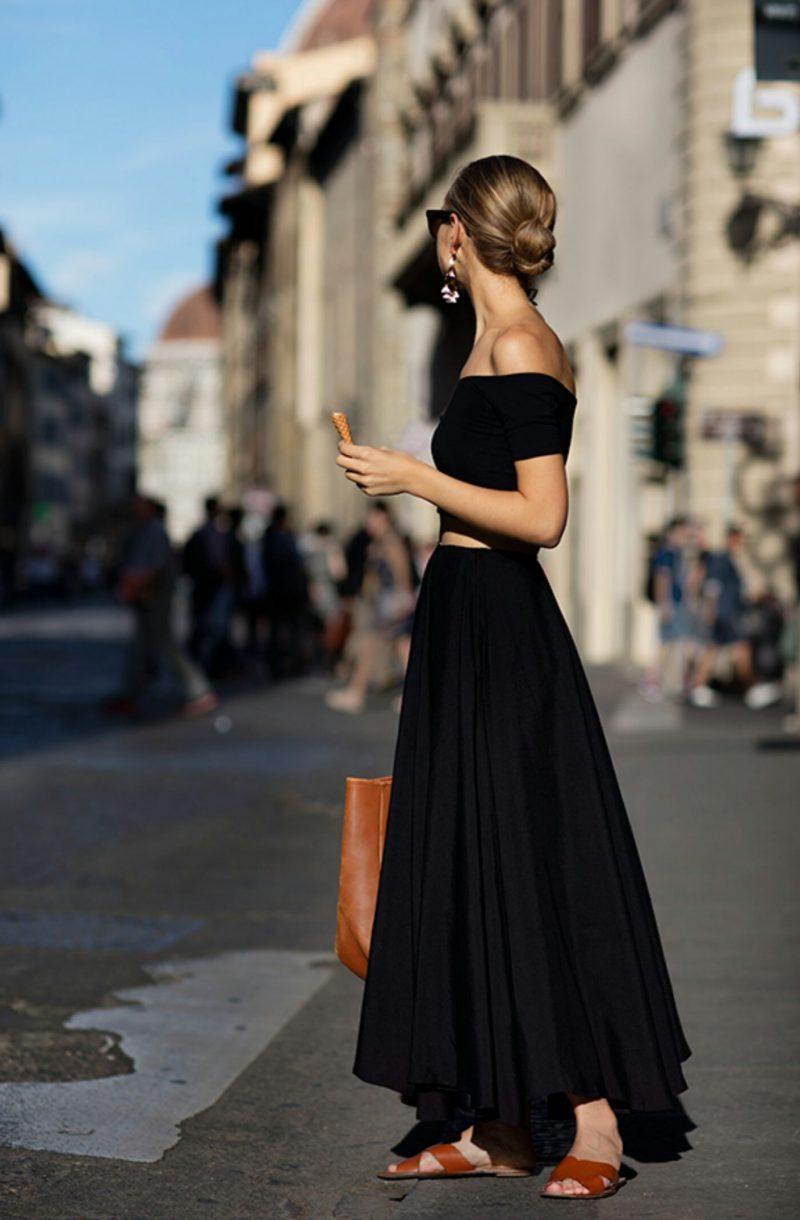 Cách phối đồ với chân váy đen dài, Cách mix đồ với chân váy đen dài, Phối đồ với chân váy đen dài, Phối chân váy đen dài, Mix đồ với chân váy đen dài dáng dài, Cách phối đồ với chân váy đen dáng dài,