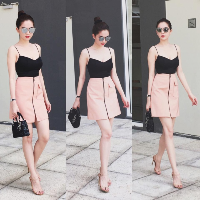 chân váy xòe ngắn mặc với áo gì, chân váy xòe ngắn nên mặc với áo gì, cách mix đồ với chân váy xòe ngắn, mix áo với chân váy xòe ngắn, chân váy xòe ngắn kết hợp với áo gì,