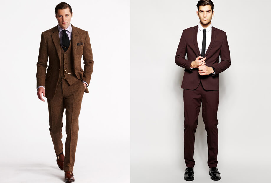 Vest nâu nên kết hợp đồng bộ với giày nâu hoăc cũng có thể phối với giày tây đen | Đàn ông mặc vest mang giày gì đẹp