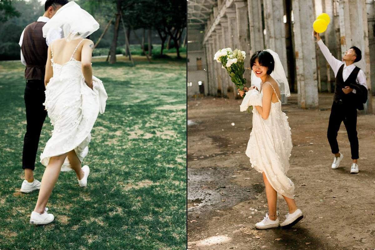 Từ món thời trang bị chê không hợp, giày sneakers giờ là amp;#34;bá chủamp;#34; tại lễ cưới hỏi - 7