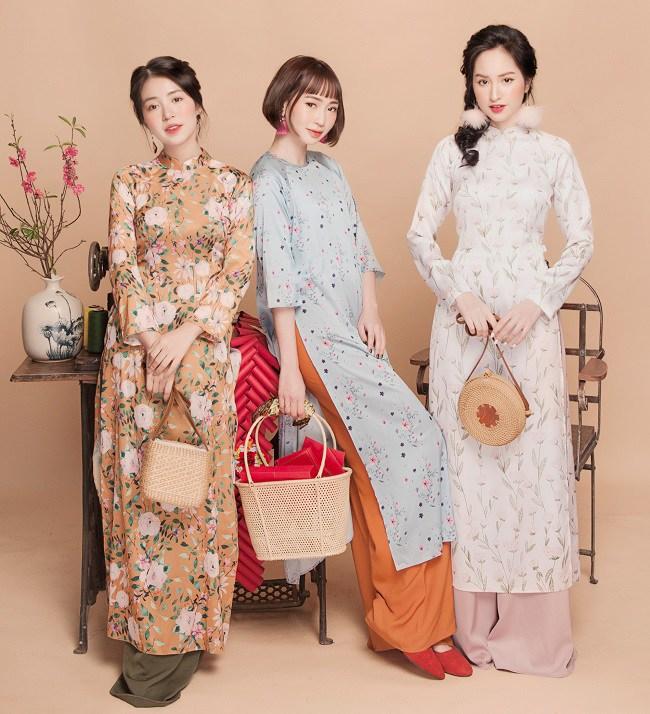 Mặc lại áo dài cũ vẫn đẹp xuất sắc ngày Xuân: 3 mẹo amp;#34;cải tânamp;#34; nàng không nên bỏ qua - 4