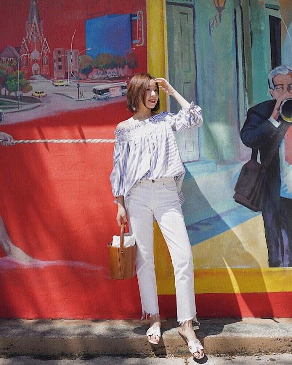 Những mẫu quần trắng tôn dáng lại dễ phối đồ, nàng diện đi chơi dịp lễ là chuẩn xinh - 9