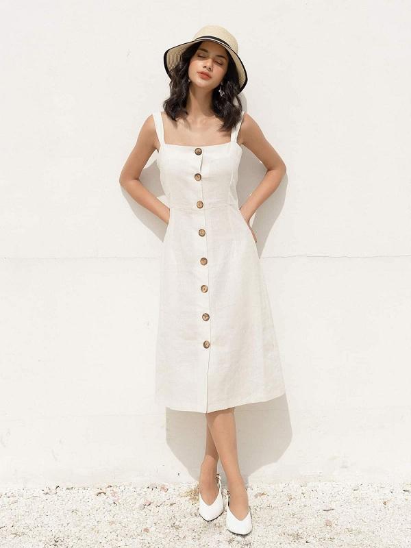 4 mẫu váy hai dây vừa xinh vừa mát, các nàng sắm nhanh còn kịp kỳ nghỉ lễ - 3