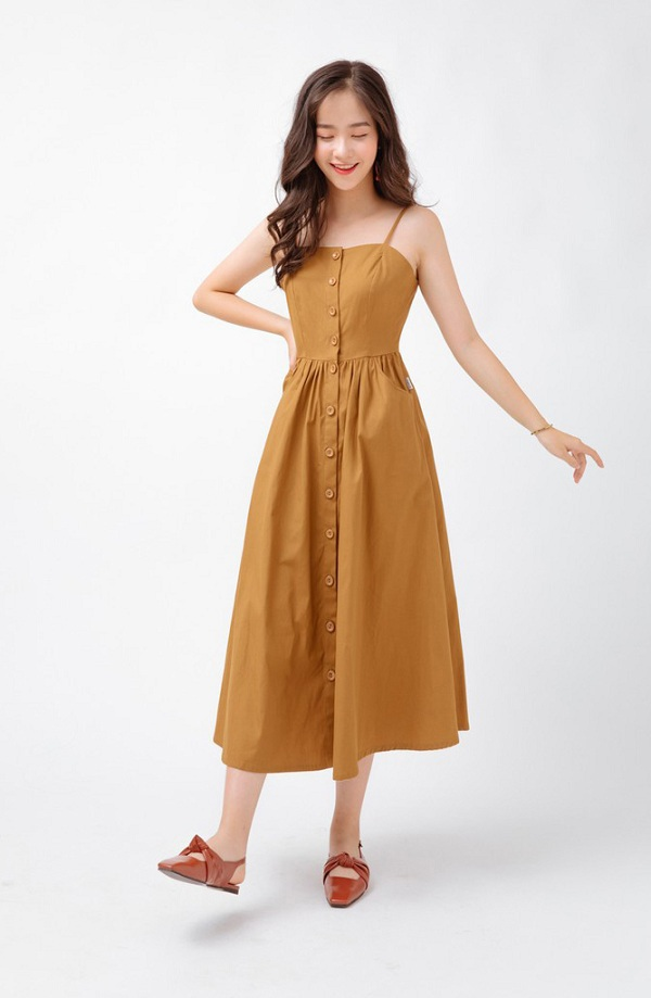 4 mẫu váy hai dây vừa xinh vừa mát, các nàng sắm nhanh còn kịp kỳ nghỉ lễ - 4