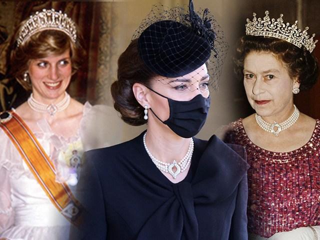 Bí ẩn bộ trang sức ngọc trai đồ sộ của công nương Kate khi dự đám tang hoàng thân Philip