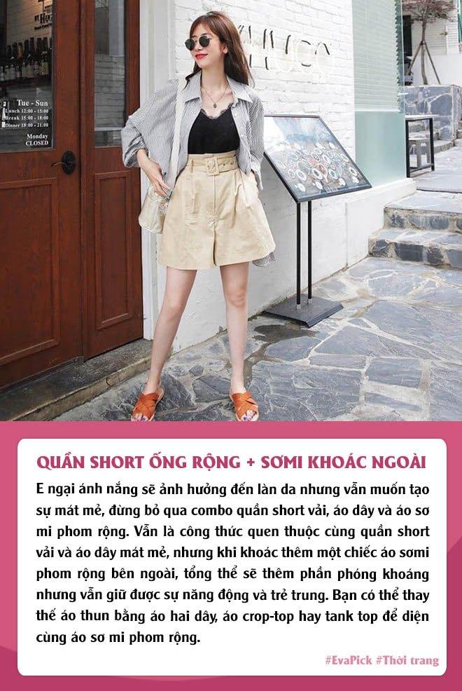 Eva Pick: 9 cách diện quần short amp;#34;kéo chânamp;#34;, mặc đi làm hay đi chơi vừa đẹp vừa mát - 3