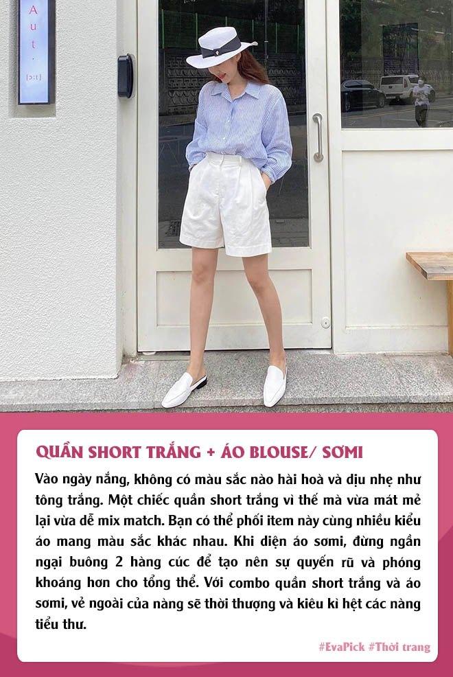 Eva Pick: 9 cách diện quần short amp;#34;kéo chânamp;#34;, mặc đi làm hay đi chơi vừa đẹp vừa mát - 7