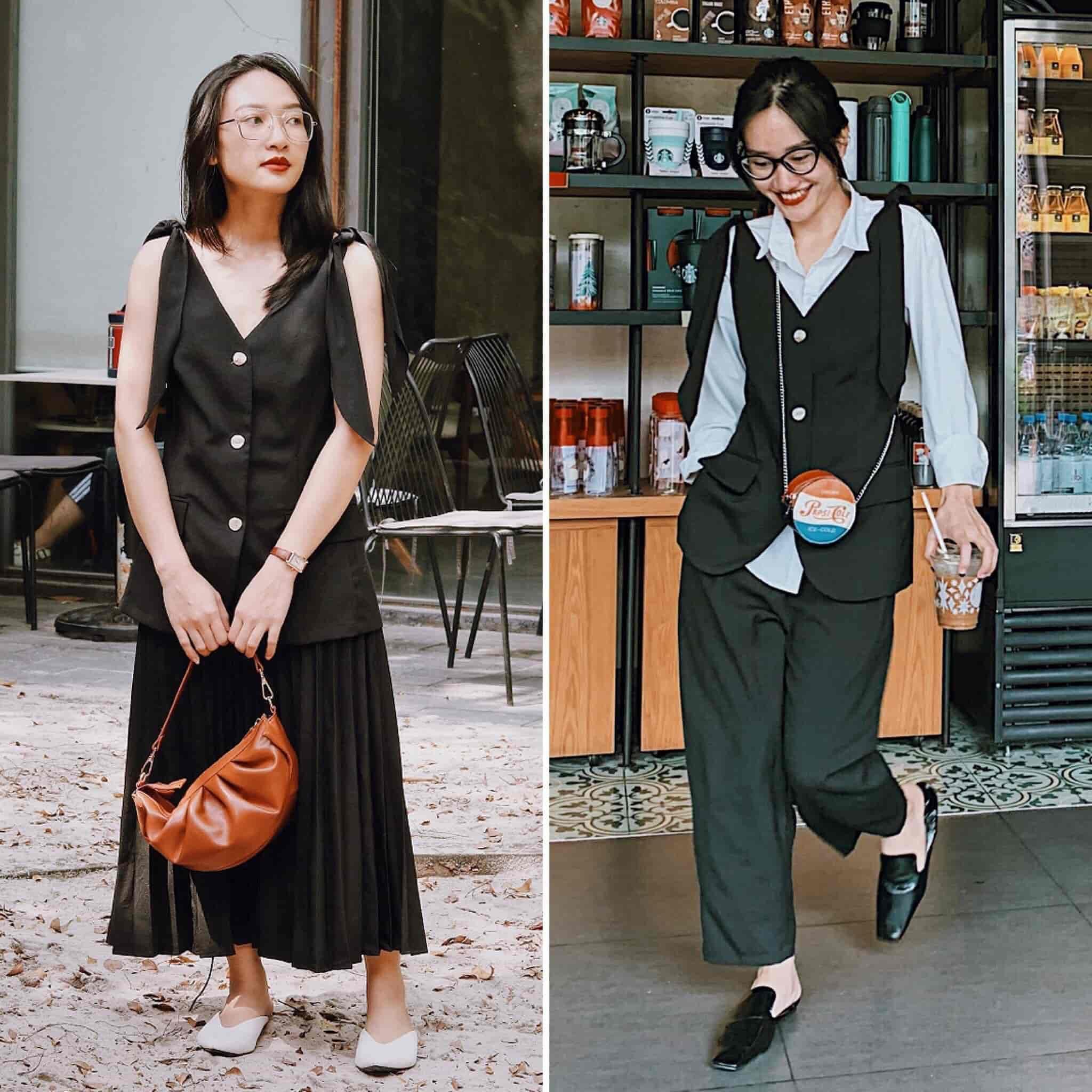 Mượn đồ chị mặc, cô em U30 biến hoá sành điệu: Bật mí chiêu tiết kiệm mua 1 mặc 2 - 6