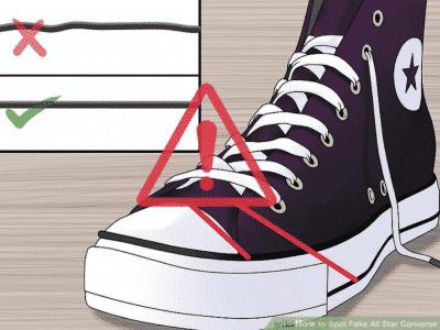 Đường viền đen ở mũi và đế giày Converse