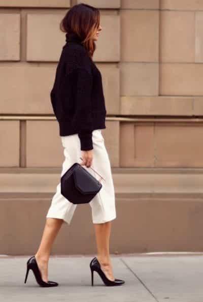 Chọn quần Culottes đơn sắc sẽ giúp nàng phối đồ dễ dàng hơn