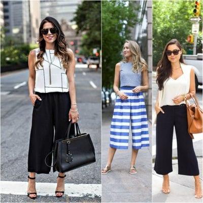 Sành điệu, thời trang với cách phối quần Culottes với áo kiểu