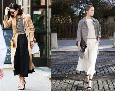 Sành điệu với cách mix quần Culottes và áo khoác dáng dài Trench coat