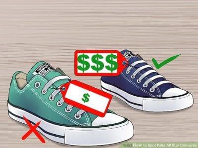 Giá Converse thật thường cao hơn gấp đôi đến gấp ba lần đôi giày fake