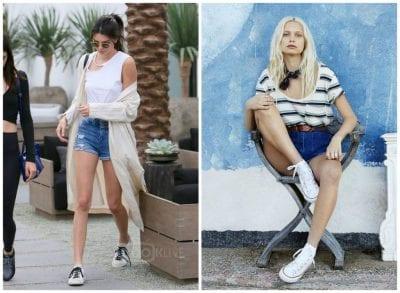 Giày thể thao là sự lựa chọn thường thấy của các cô gái khi diện quần sooc