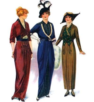 Váy hobble – tiền thân của chân váy bút chì – vào những thế kỷ 20