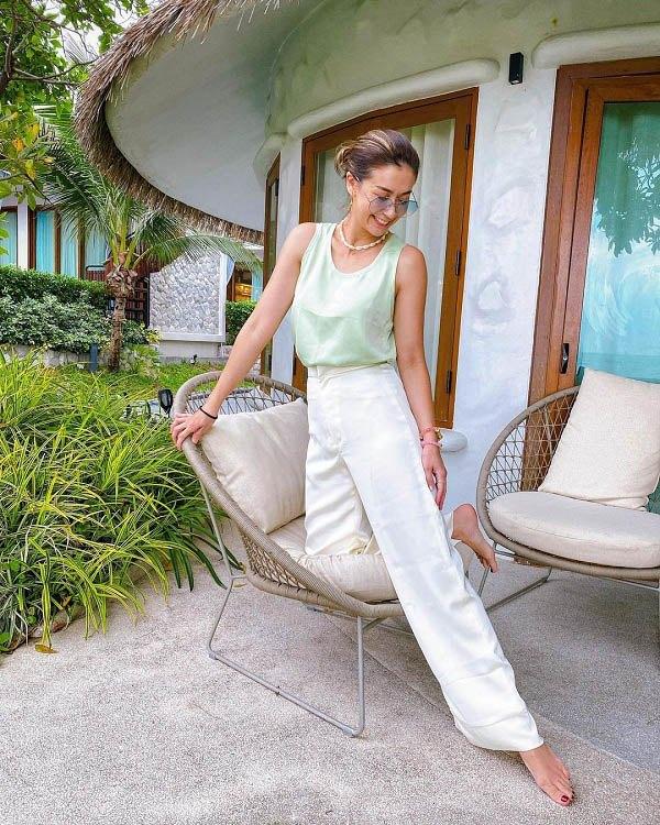 Hội gái Thái là cao thủ diện quần ống rộng, phối theo phong cách nào cũng đẹp đỉnh - 6