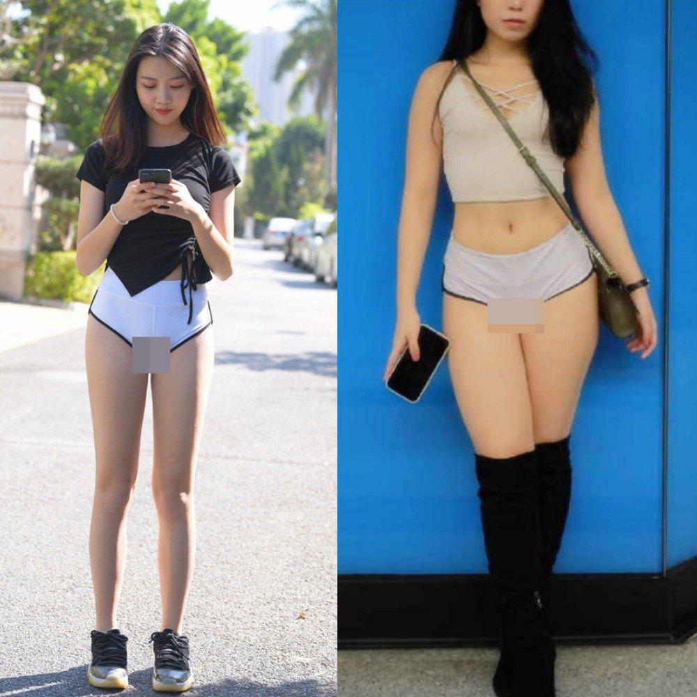 Phản cảm khi hotgirl phòng gym amp;#34;làm tròamp;#34; với quần tập: ngườidiện mỏng như sương, người lồ lộ ngấn mông - 10