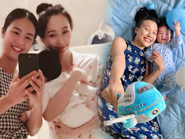 Khi Hoa hậu làm mẹ bỉm: Cất hết váy áo lộng lẫy, ở nhà mặc xoàng xĩnh nhận khó ra