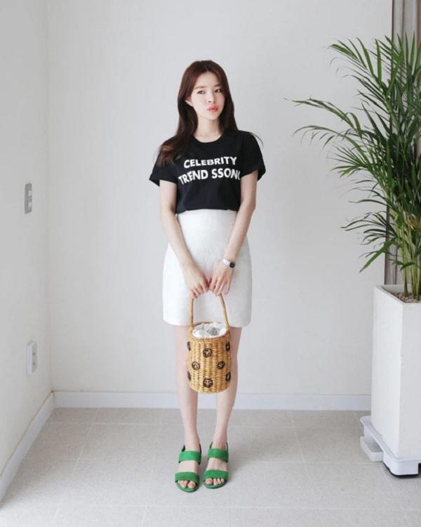 Chỉ mất hơn trăm nghìn mua một chiếc chân váy trắng, nàng tha hồ phối nhiều set đồ sang xịn - 5
