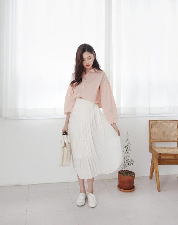 Chỉ mất hơn trăm nghìn mua một chiếc chân váy trắng, nàng tha hồ phối nhiều set đồ sang xịn - 6