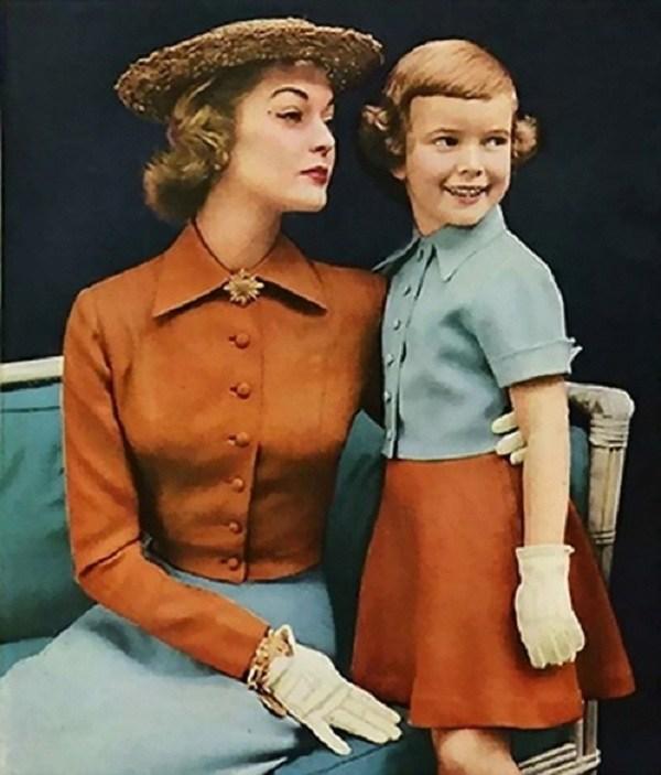 Trào lưu mặc đồ đôi cùng con đã có từ xưa, đẹp đến độ mẹ bỉm hiện đại bái phục - 4
