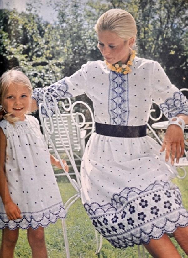 Trào lưu mặc đồ đôi cùng con đã có từ xưa, đẹp đến độ mẹ bỉm hiện đại bái phục - 9